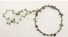 Purple Winter jasmine daisy plastic indian flower garland crown headband QFHD-2570