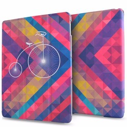 high quality for ipad smart cover PU leather for ipad air 2 accessories custom printing tablet cases