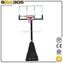 portable and adjustable inground basketball stand