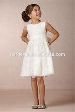dreamlike camadas de tule petite volta bowknot bordado chá comprimento vestidos de festa para as meninas 12 anos