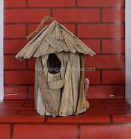 2015 Hot selling cheap handmade carved wooden bird house light house