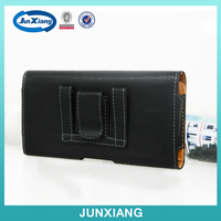 PU leather black holster belt clip flip pouch case for iphone 6