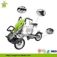 Three Wheel Bicycle Baby Stroller Pushchair Multifunctional Vehicle