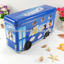 high quality food contacted empty metal compartment tin box