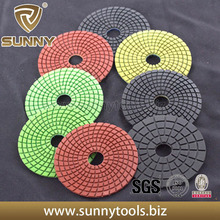 Flexible Resin Wet Granite Polishing Pads for Angle Grinder