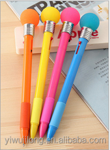 Creative novel ball pen with lamp bulb for promotion/gift for office and school