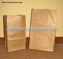 Hot sales! Takeaway fast food paper packaging bag with square bottom