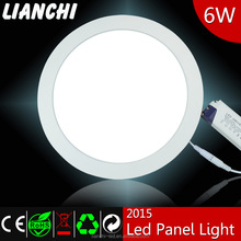 High quality super bright white round 6 watt LED panel lights with ultrathin design