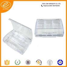 2015 transparent plastic empty eyeshadow case