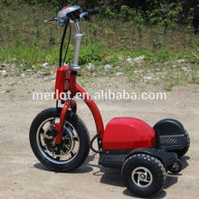 New design three wheeler standing up 2 seats electric cheap old golf carts with big front tire