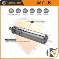 stainless steel mechanical mod 18350 or 18650 x6 plus e cigarette ce5
