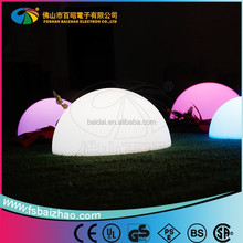 sale promotion PE outdoor RGB color changing rechargeable glow LED half ball lamp