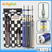 New variable voltage ecig airflow control evod twist 3 m16 disposable wax vaporizer e cigarette for china wholesale