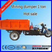 Electric mini mining dumper trucks/underground mini mining dumper trucks 1 ton/three wheel mini mining dumper trucks