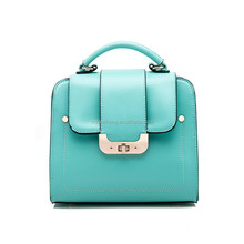 wholesale exported Colorfull waxy and greasy leather handbag/tote bag for office lady