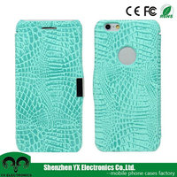 fashion crocodile PU flip book style leather case for mobile phone