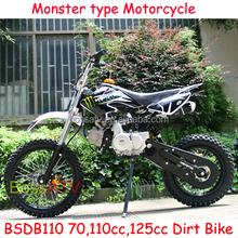 New Design Electric Start 110CC Dirt Bike 125CC Dirt Bike with Monster Sticker