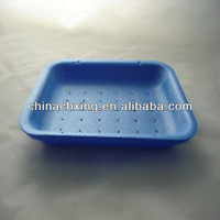 low price White Linstar Absorbent Tray Foam Polystyrene Meat Butchers Trays for sale