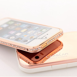 Luxury High-duty metal diamond-encrusted Bumper for iphone 5 5s casing,for iphone 5 case,for iphone5 bumper