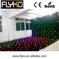 wedding back drop led star cloth backdrop in led stage lights