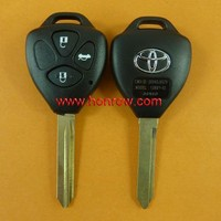 Toyota 3 button remote key blank with Toy47 blade, key shell
