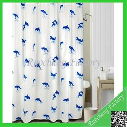 High Quality Custom Print PVC Shower Curtain Designer