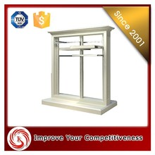 Amazing design European style free standing clothing display rack cabient, clothing hanging stand