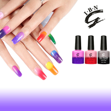 Colour changing uv nail gel polishes wholesale christmas promotion