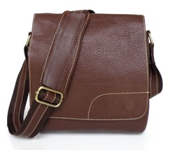 China Wholesale Drop Shipping Coffee Color Men Leather Shoulder Bag #6030