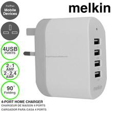 Wholesale mobile phone charging 5V 2.4A usb wall charger with UK, US, EU PLUG