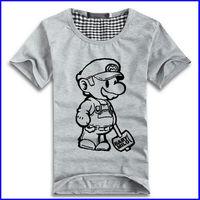Mario kis cartoon t-shirt clothes Women's Men's 7 Colors casual short sleeve t-shirts for couples