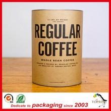 Popular coffee/tea corrugated paper tube packaging