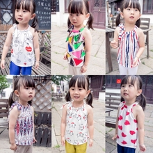 MS65306C all types summer hot sale baby blouses
