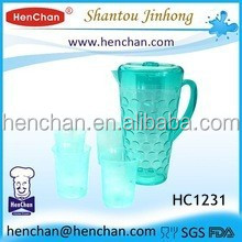 bpa free customized pitcher and cup plastic