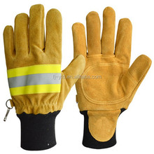 First class firemen fireproof firefighting gloves for safety at work