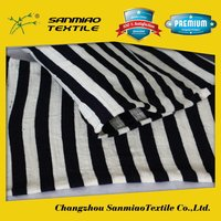 SANMIAO Brand high quality cheapest white stripe bedding fabric material SBWHCP-165