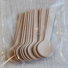 Restaurant Mini Cute Cheap Disposable Bamboo Wooden Cutlery Tasting Spoon