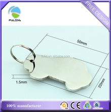 custom stainless steel metal blank polished finished car shape dog tag sign keychain