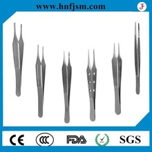 Good quality low price stainless steel plastic surgical forceps/tweezer