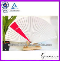 White&Red Wood Hand Fan Wedding Decoration