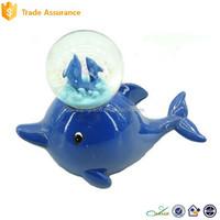 Wholesale Resin Glass Sea Animal Water Snow Globe Souvenir
