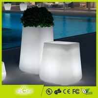 Outdoor Garden Flower Pot LED Glowing High Big Tree Pot
