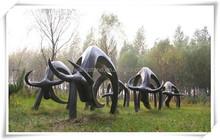 Outdoor Spanish Bullfighting Metal Bull Sculpture