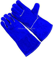 "14""/16'' Cheap Price Unlined Suede Leather Welding Gloves factory/ Long Sleeve Safety Leather Working Gloves"