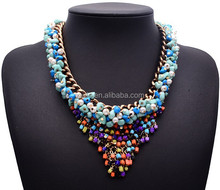 multi layer bead necklace colorful beads necklace jewelry wholesale