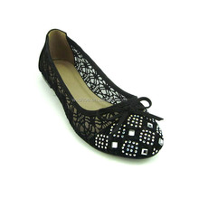 new designed ladies fancy pretty lace vamp bow-knot black casual dress selling good sytle leather insole shoes for women