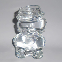 80ml clear bear modeling candy lad glass storage jar with cap