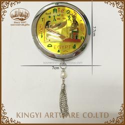 Yiwu good quality round shape souvenir round mirror