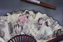 China folk art Feature and Business Gift Use bamboo fan for sale/Chinese flavor folding bamboo fan for wholesale