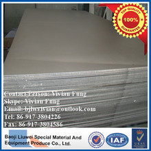 high quality grade 5 titanium plate from baoji liuwei